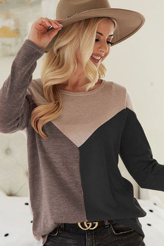 Colorblock Lightweight Knit Sweater