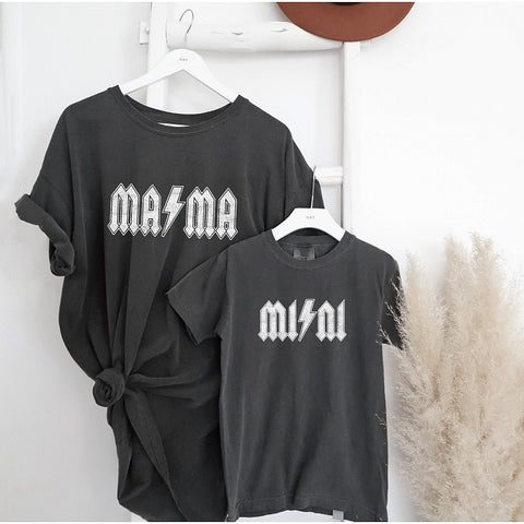 Mama Lightening Bolt Graphic Tee