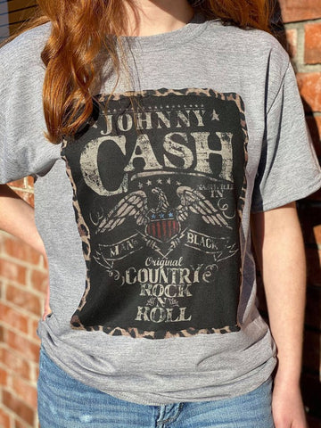 Johnny Cash Leopard Band Tee