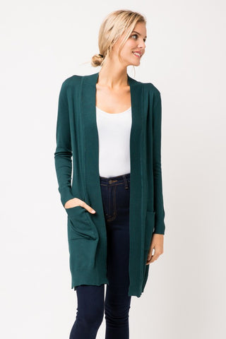 Long Length Basic Cardigan