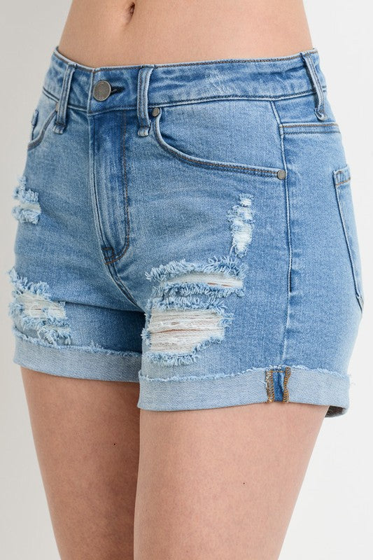 Monte Rolled Hem Denim Short