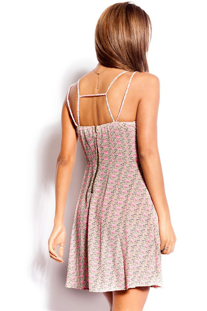 Strappy Back Skater Dress