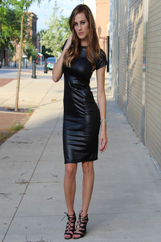 Leather Midi Dress