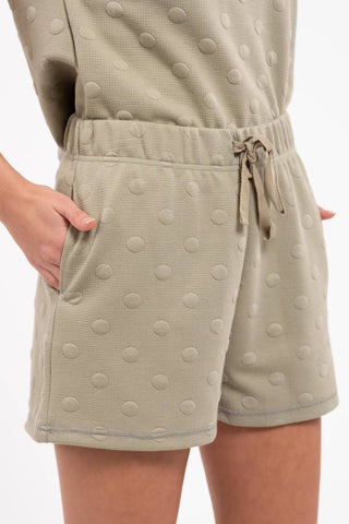 Textured Swiss Dot Cozy Shorts