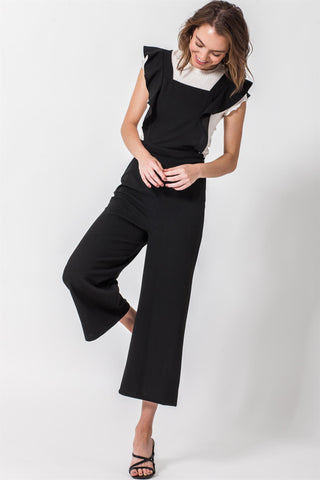 Cropped Ruffle Jumpsuit