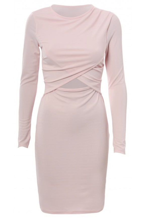 Cutout Knit Midi Dress