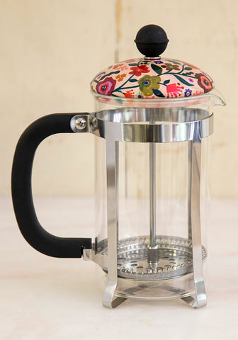 Floral French Press