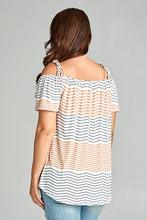 Load image into Gallery viewer, Chevron Off The Shoulder Top