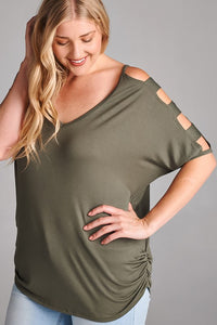 Cutout Sleeve Top