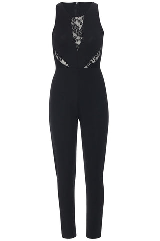 Jumpsuit with Lace Cutouts