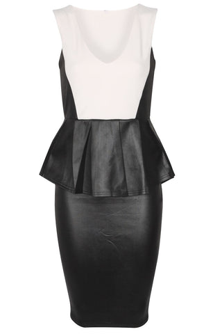 Leather Peplum