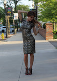Metallic Midi Dress