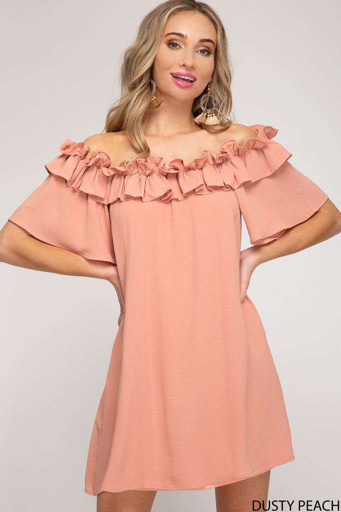 Ruffle Off The Shoulder Dress