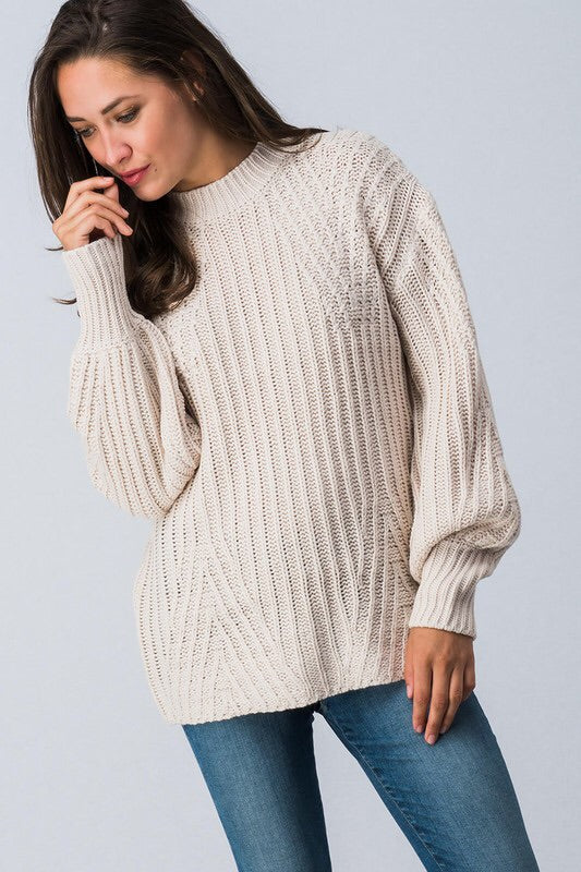 Chunky Puff Sleeve Sweater