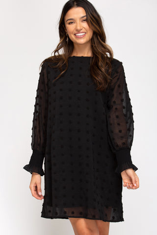 Swiss Dot Shift Dress