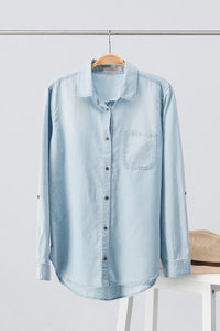 Soft Denim Button Up