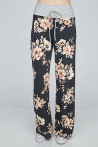 Floral Wide Leg Lounge Pants