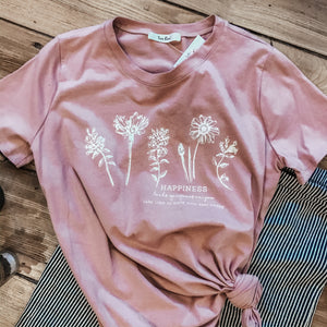 Floral Happiness Graphic Tee