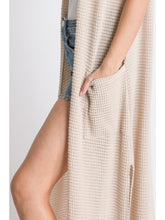 Load image into Gallery viewer, Waffle Knit Maxi Vest