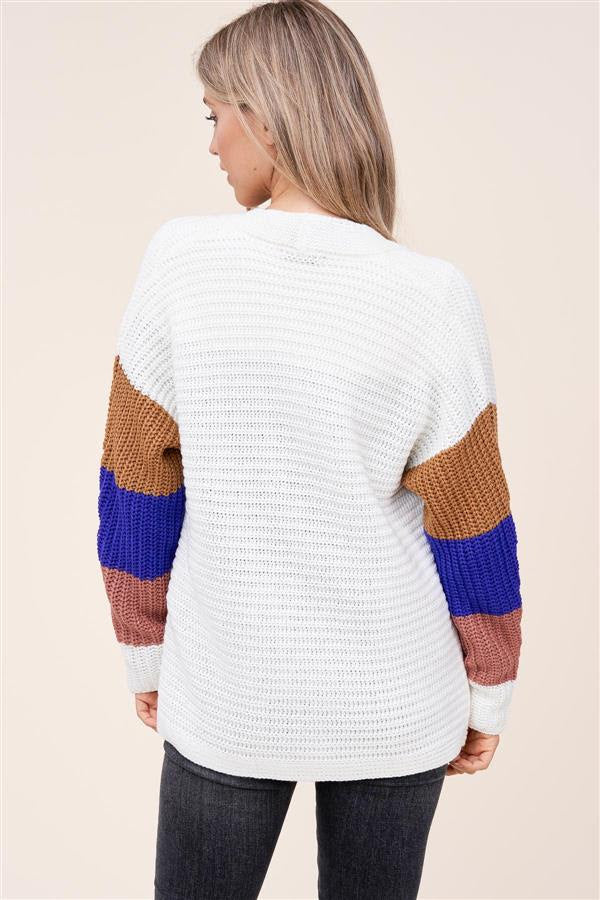 Colorblock Sleeve Cardigan