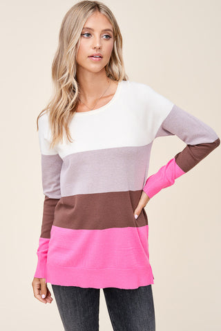 Super Soft Colorblock Sweater