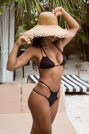 Black St Barths Top + Bimini Bottom