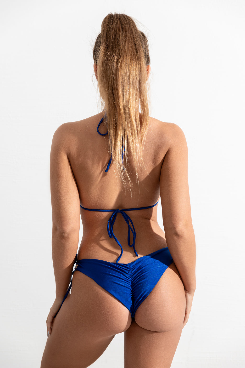 Deep Sea Blue Bondi Top // Malibu Bottom