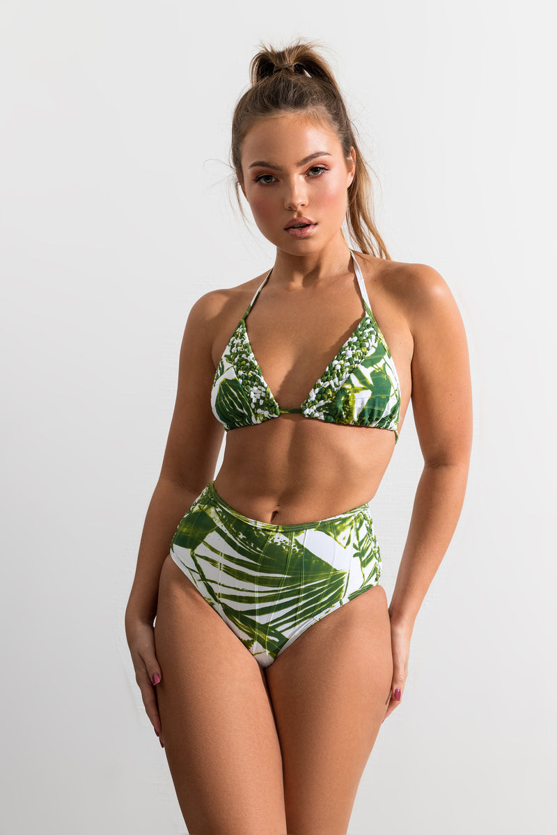 Palm Print Seaside Top // Bottom