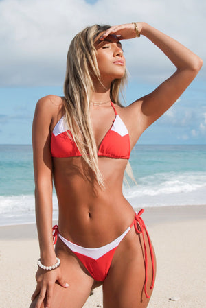 Red Barbados Bikini