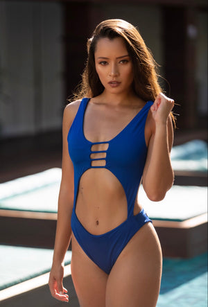 Deep Sea Blue Cassis Monokini