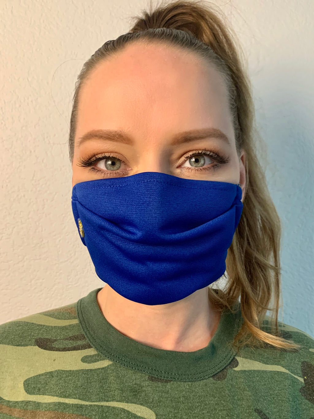Blue Fabric Mask