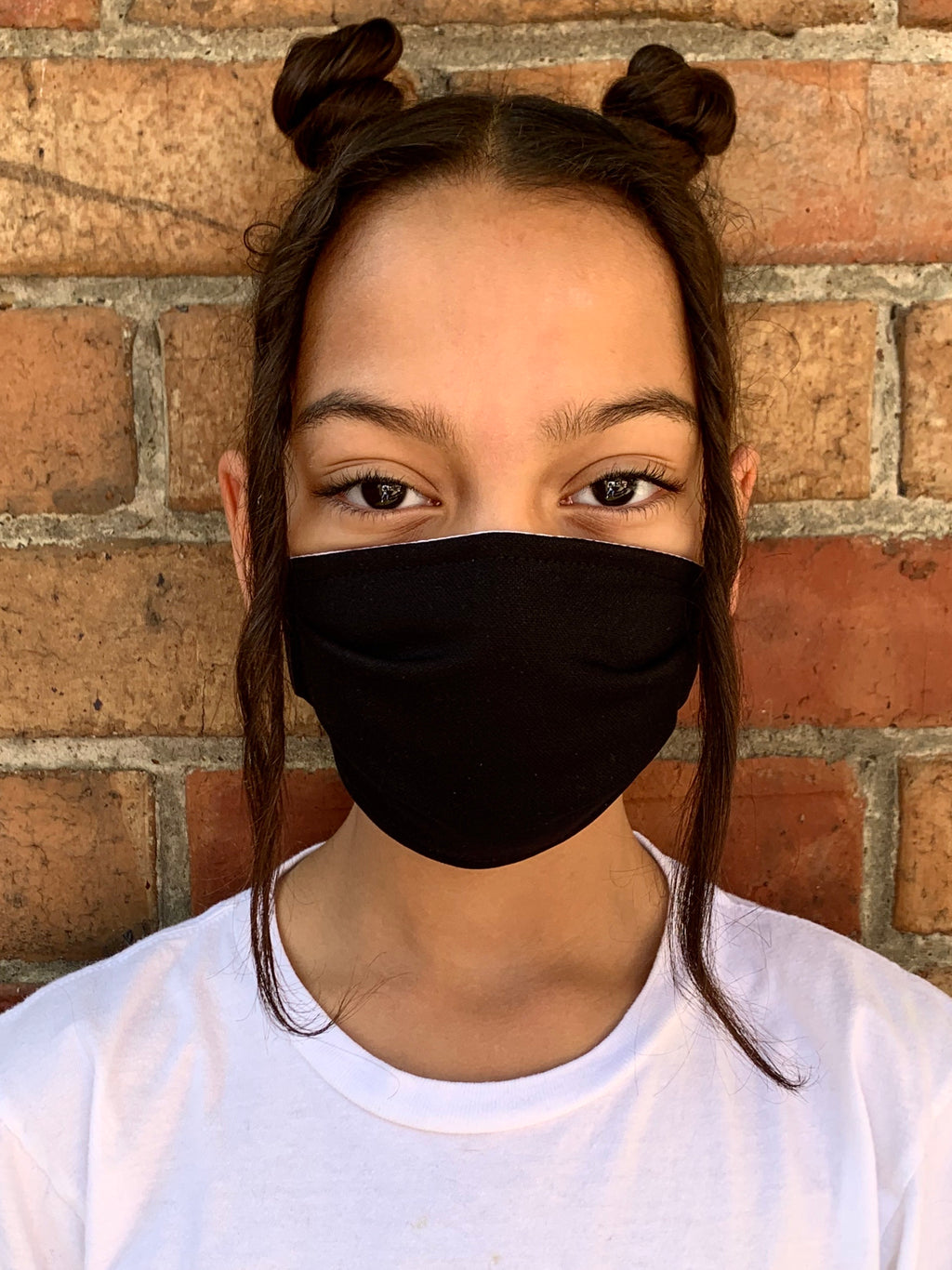 Kids Black Fabric Mask