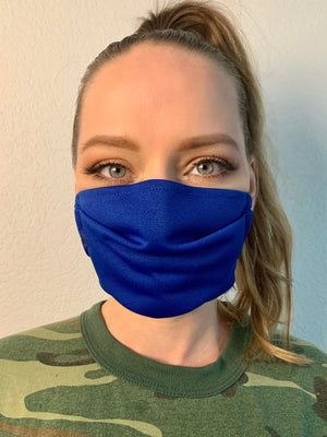 Mighty Blue Fabric Mask