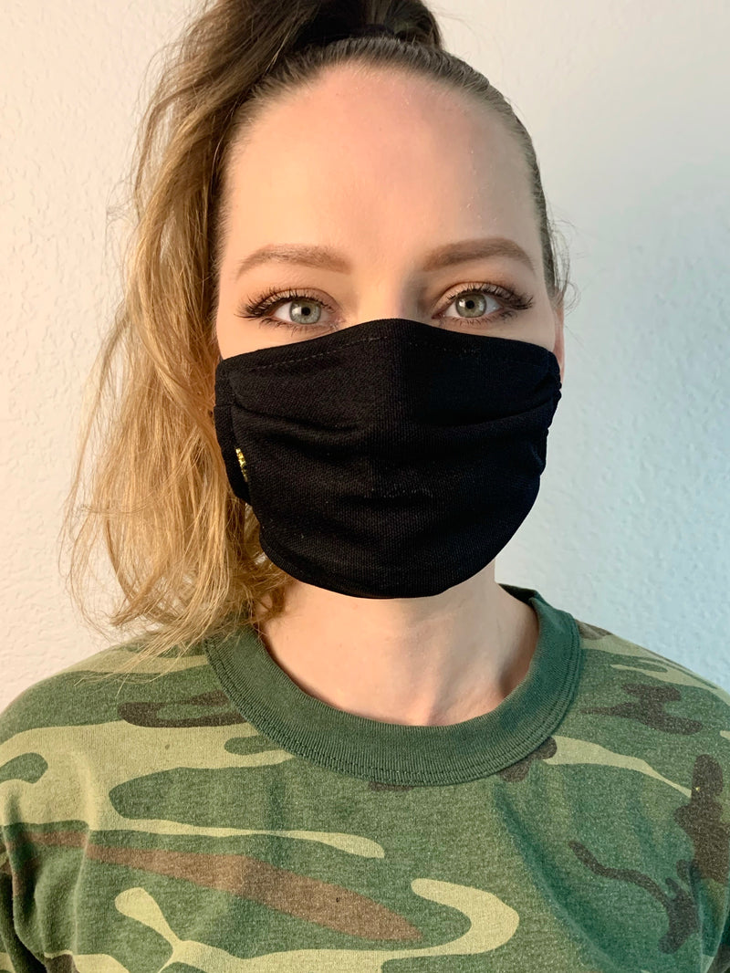 Black Fabric Mask