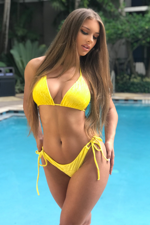 Lemon Velvet Bondi Top // Velvet Malibu Bottom