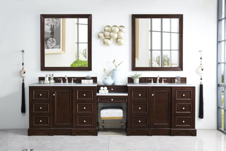 Vanities in bathroom