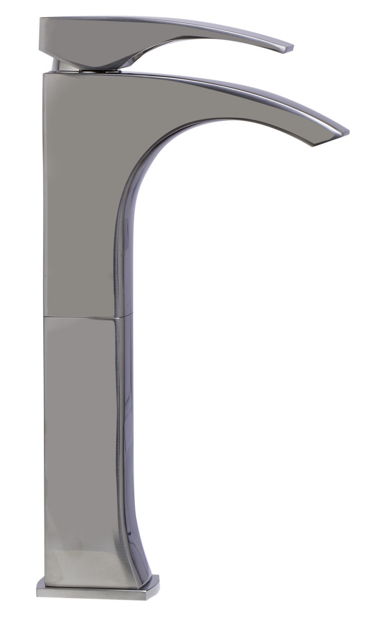 alfi tall brushed nickel single lever bathroom faucet ab1587 bn