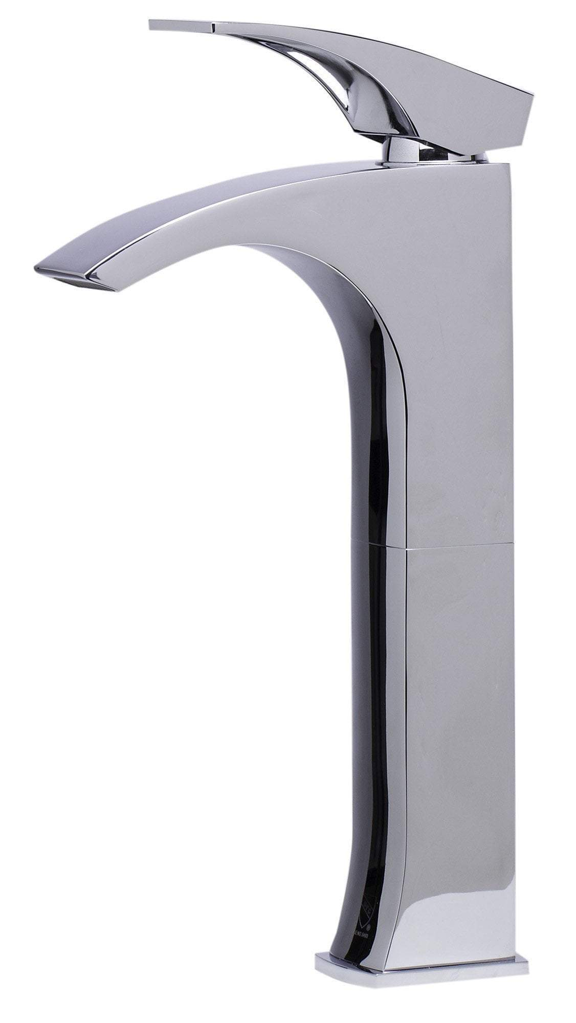 alfi tall polished chrome single lever bathroom faucet ab1587 pc