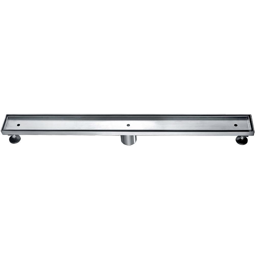 "32"" Modern Stainless Steel Linear Shower Drain  w/o Cover"