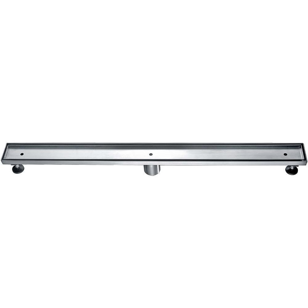 "36"" Modern Stainless Steel Linear Shower Drain  w/o Cover"