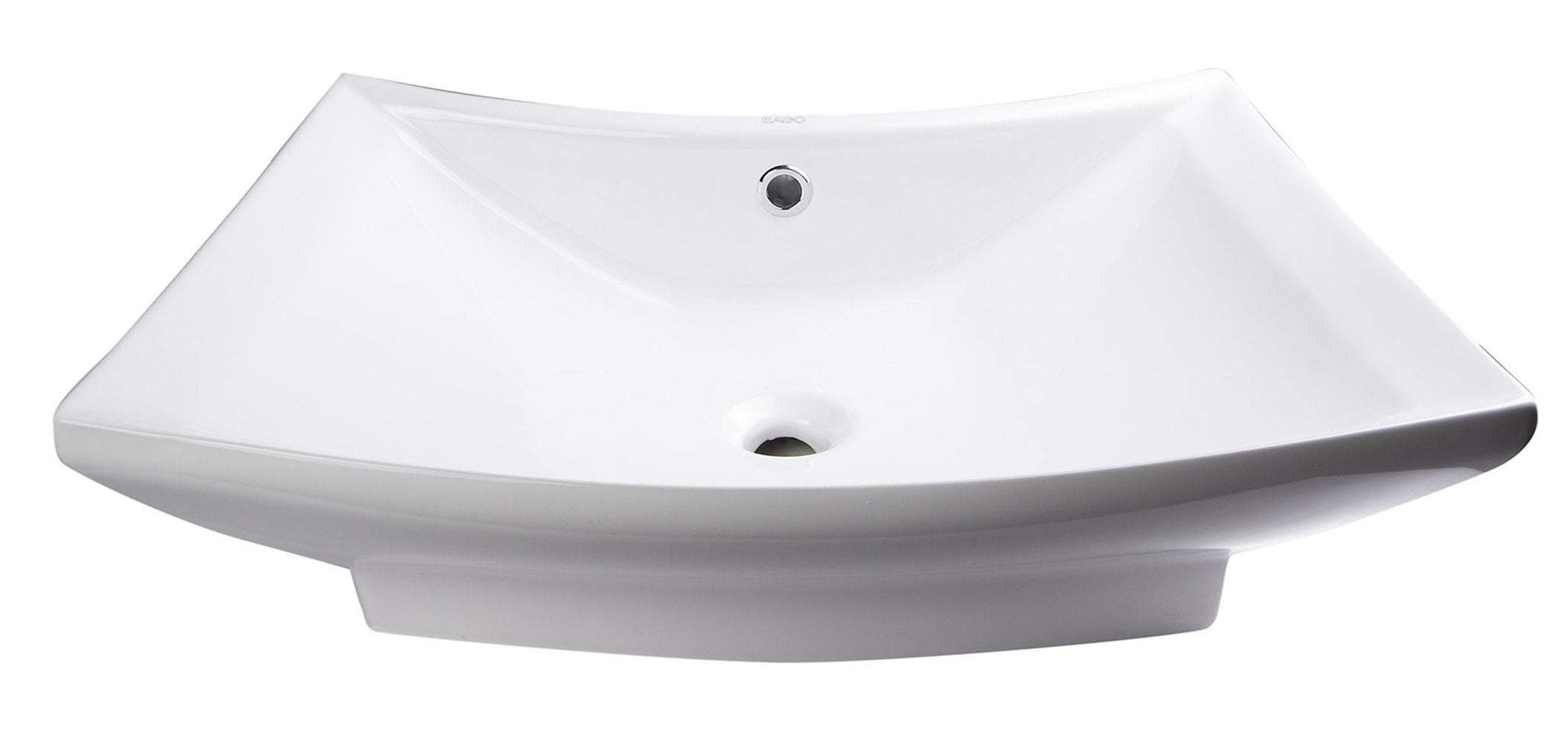 "28"" Rectangular Porcelain Bathroom Vessel Sink with Single Hole"