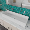 "48"" White Above Mount Porcelain Bath Trough Sink"