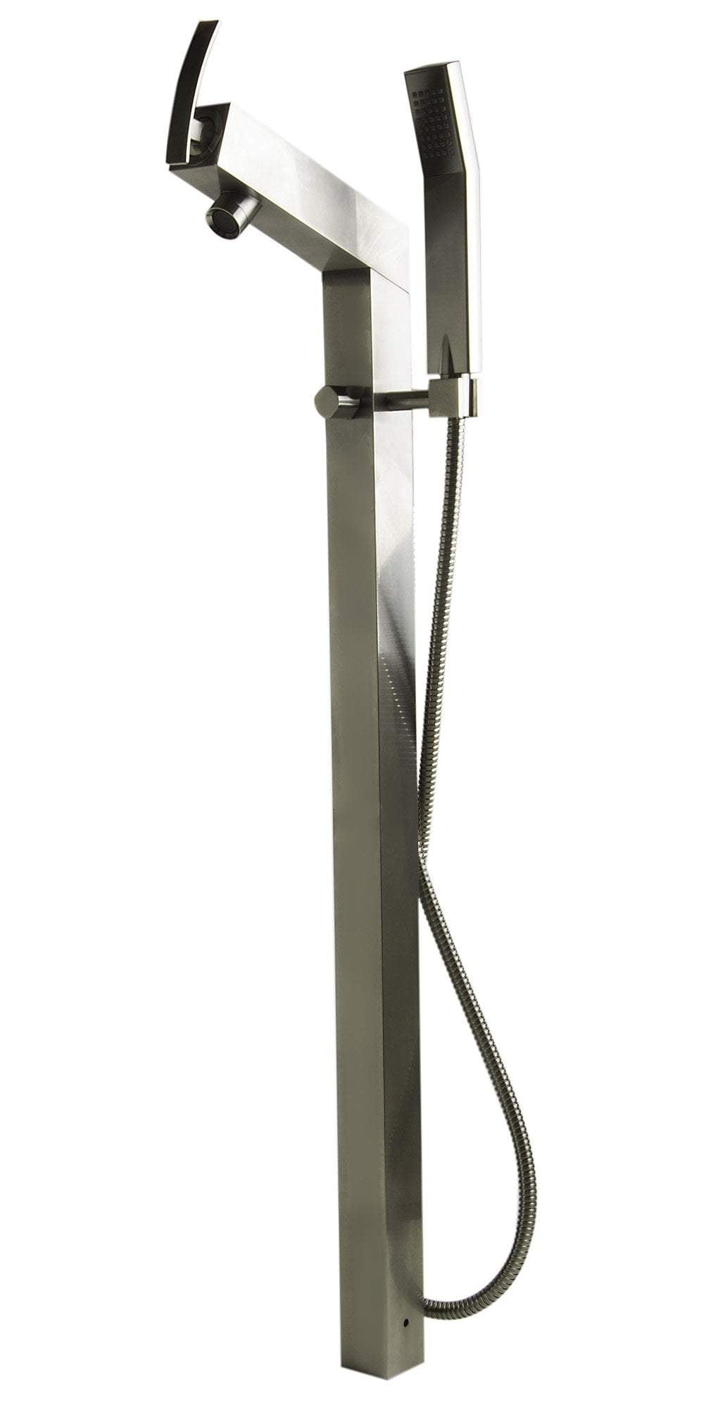 ALFI brand AB2728-BN Brushed Nickel Floor Mounted Tub Filler + Mixer /w additional Hand Held Shower Head