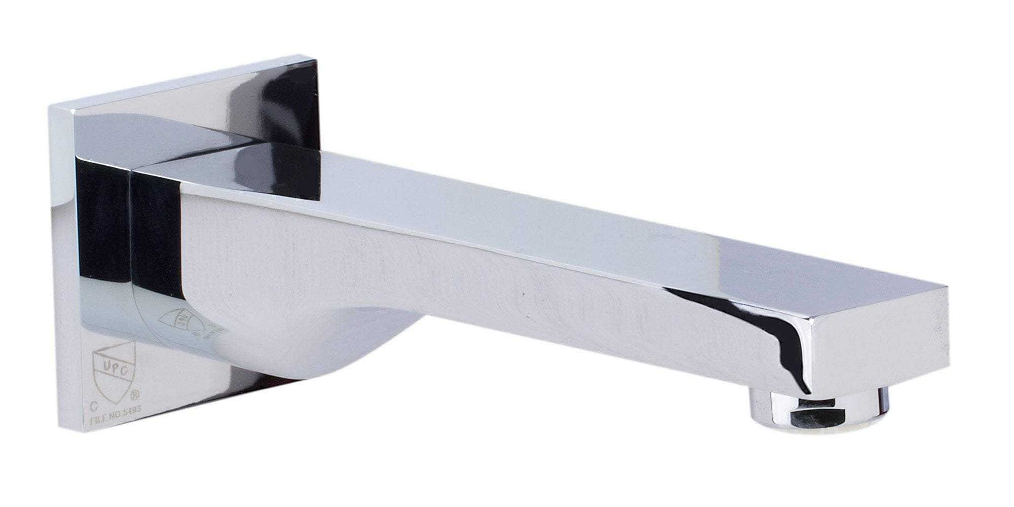 Polished Chrome Wallmounted Tub Filler Bathroom Spout