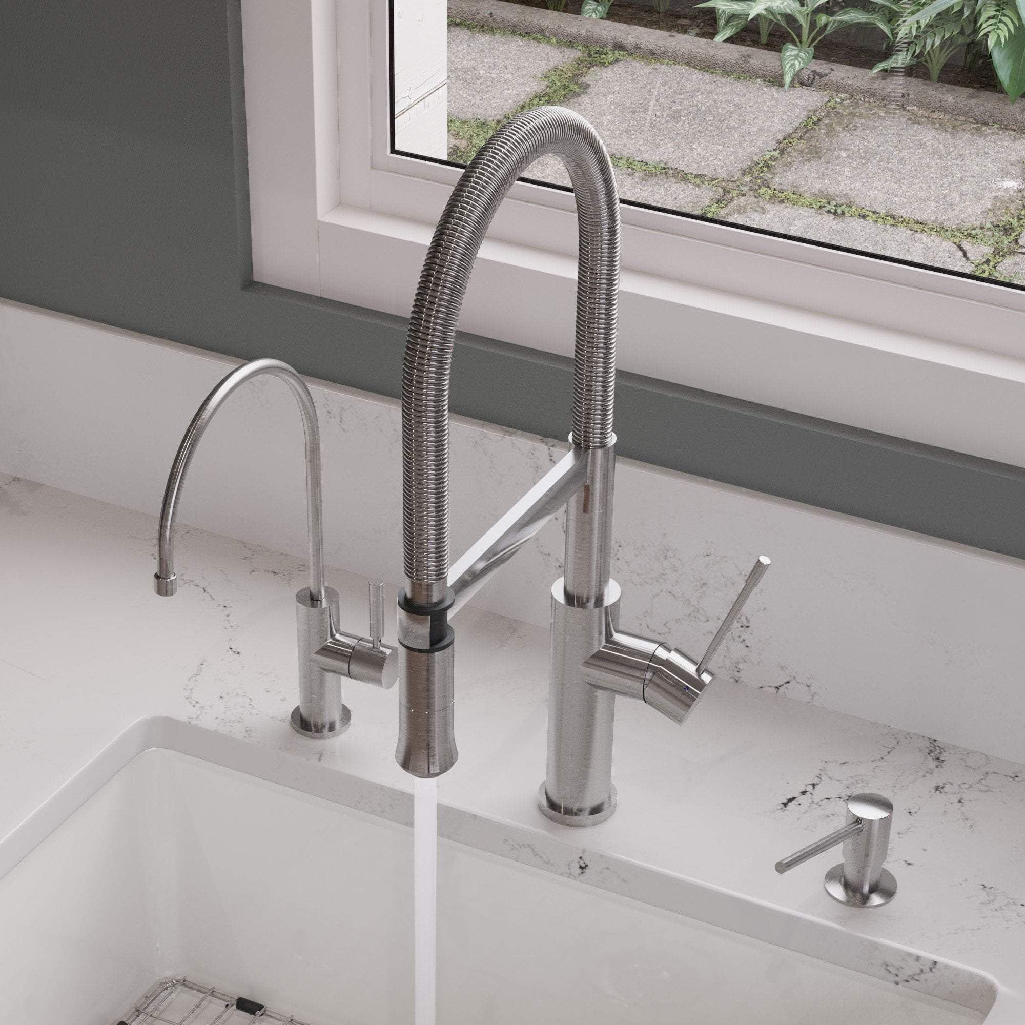 ALFI brand AB2015 Brushed Gooseneck Single Hole Faucet