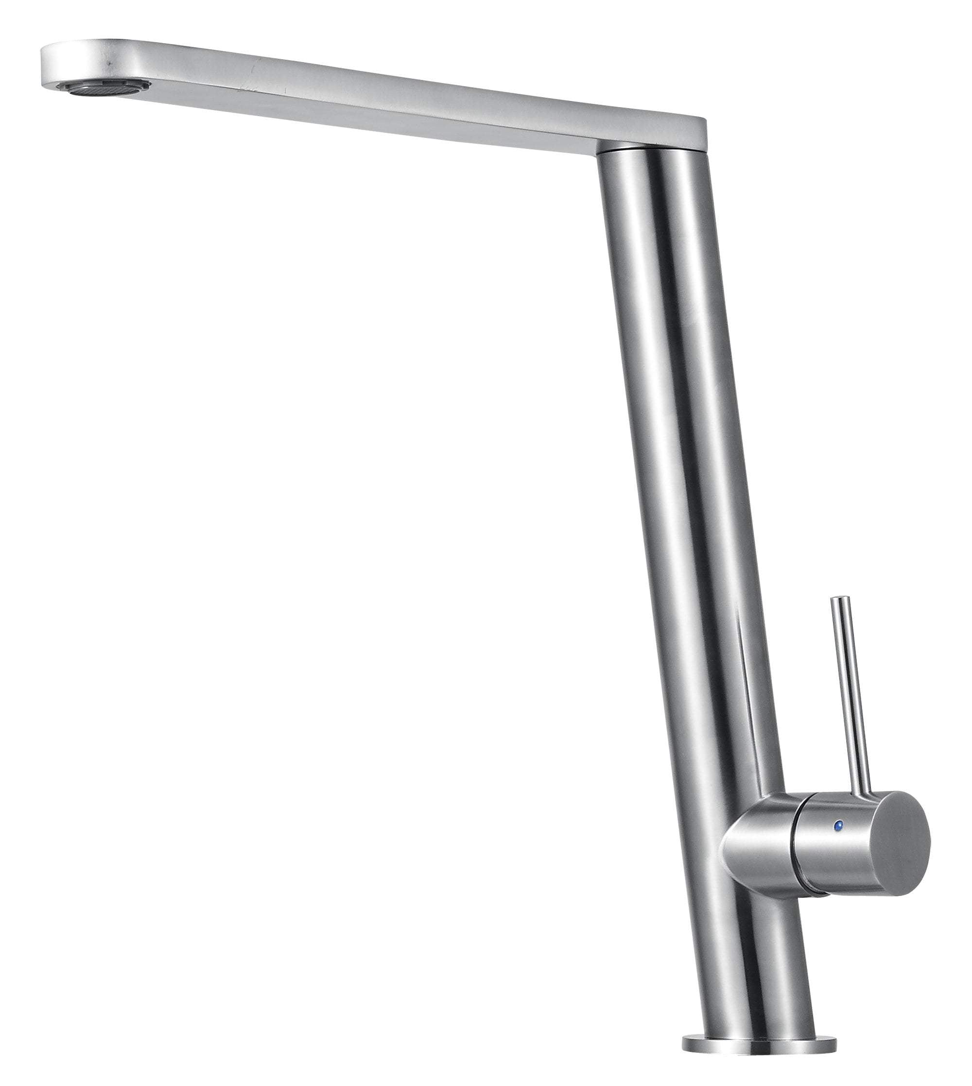 ALFI brand AB2046-BSS Round Modern Brushed Stainless Steel Kitchen Faucet
