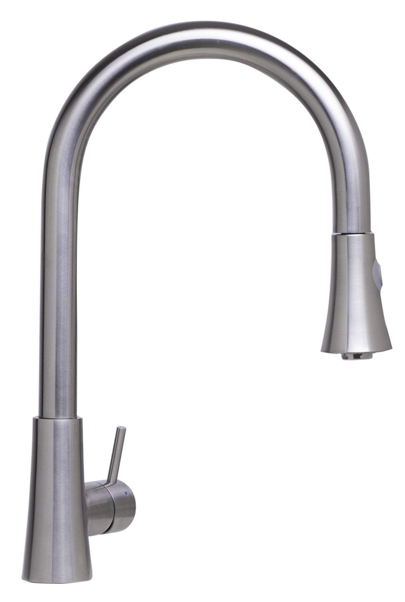 alfi solid brushed stainless steel pull down single hole kitchen faucet ab2034 bss