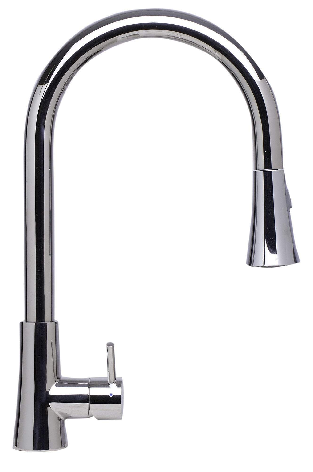 alfi solid polished stainless steel pull down single hole kitchen faucet ab2034 pss