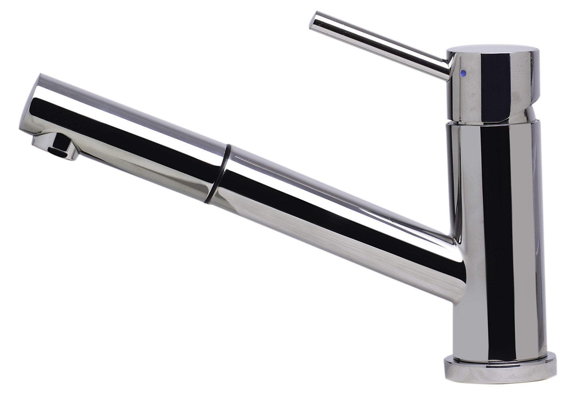 alfi solid polished stainless steel pull out single hole kitchen faucet ab2025 pss