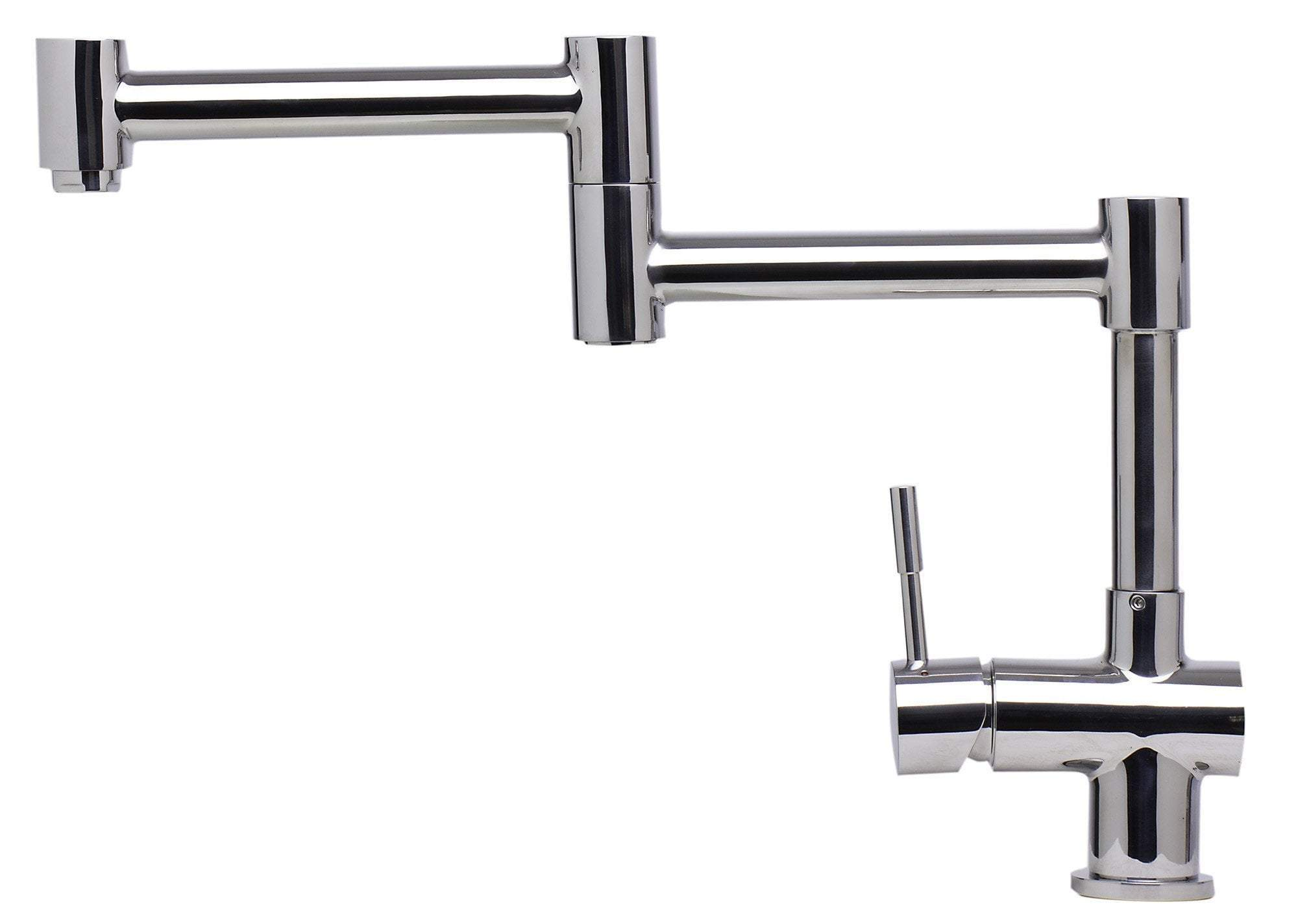 alfi solid polished stainless steel retractable single hole kitchen faucet ab2038 pss